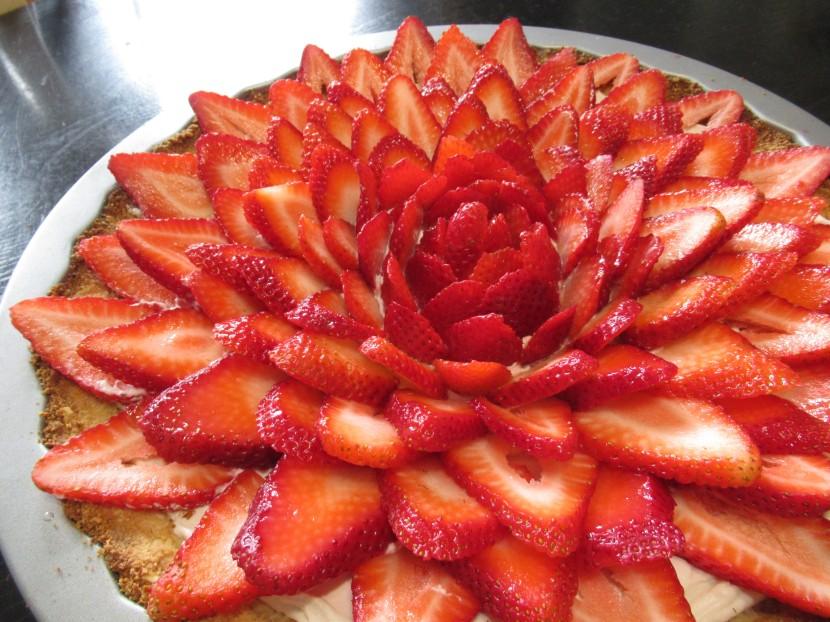 tarte fleur fraises